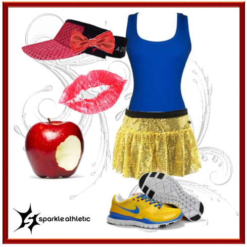 Snow Princess Inspired Running Costume Sparkle Athletic