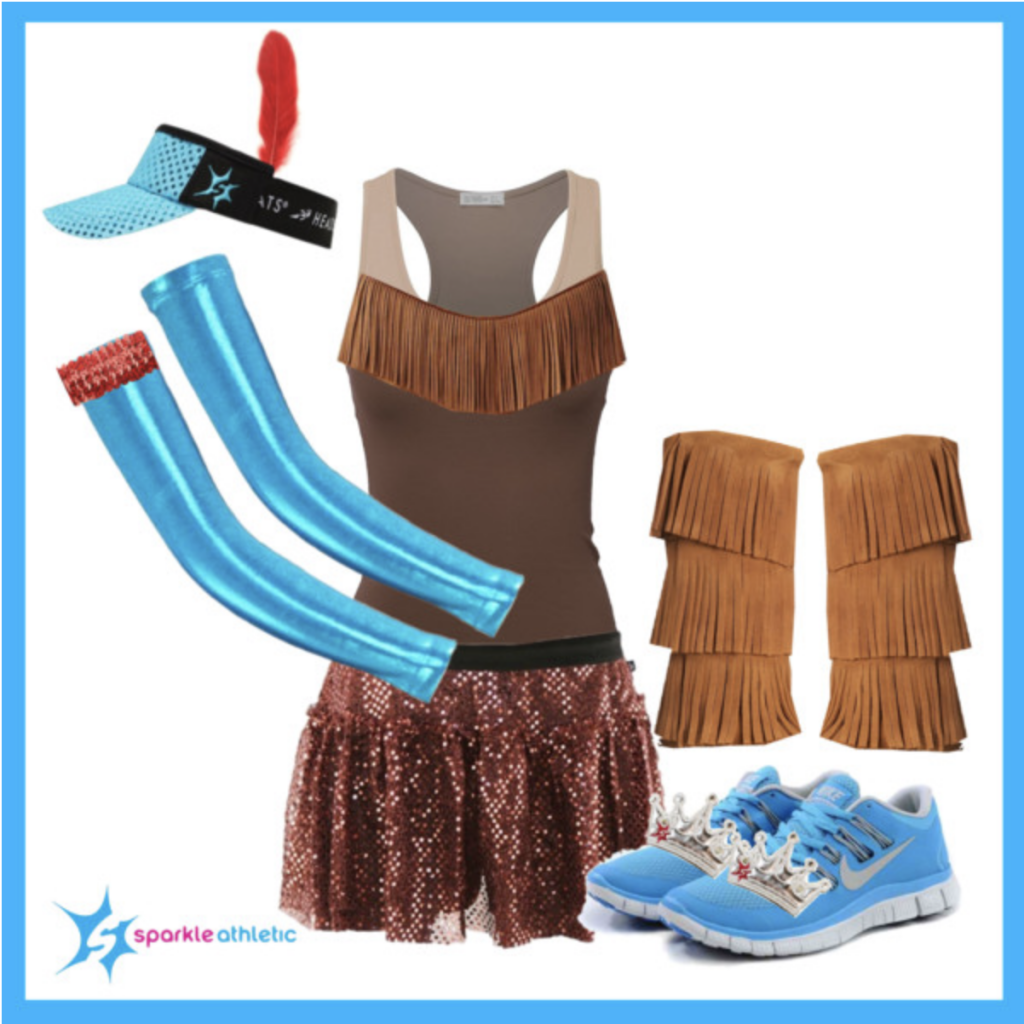 Pocahontas running costume for run Disney races