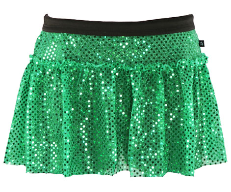 green-sparkle-running-skirt