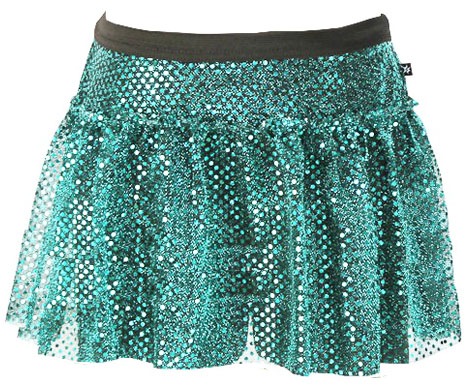 teal-green-sparkle-running-skirt