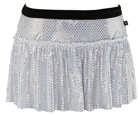 white-sparkle-running-skirt