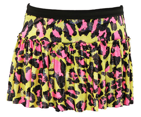 yellow-pink-cheetah-sparkle-running-skirt