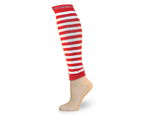 red white stripe race legs