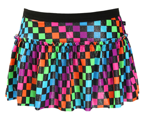 rainbow-checkerboard-sparkle-running-skirt