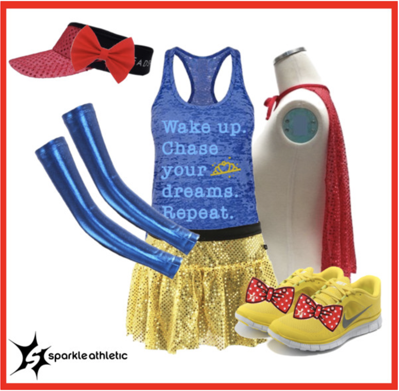 Snow White running costume for runDisney races