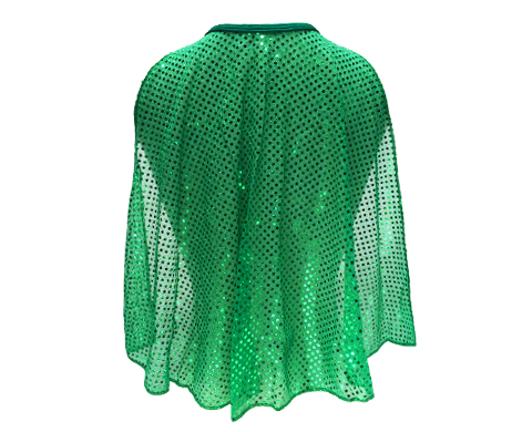 green-sparkle-cape-back