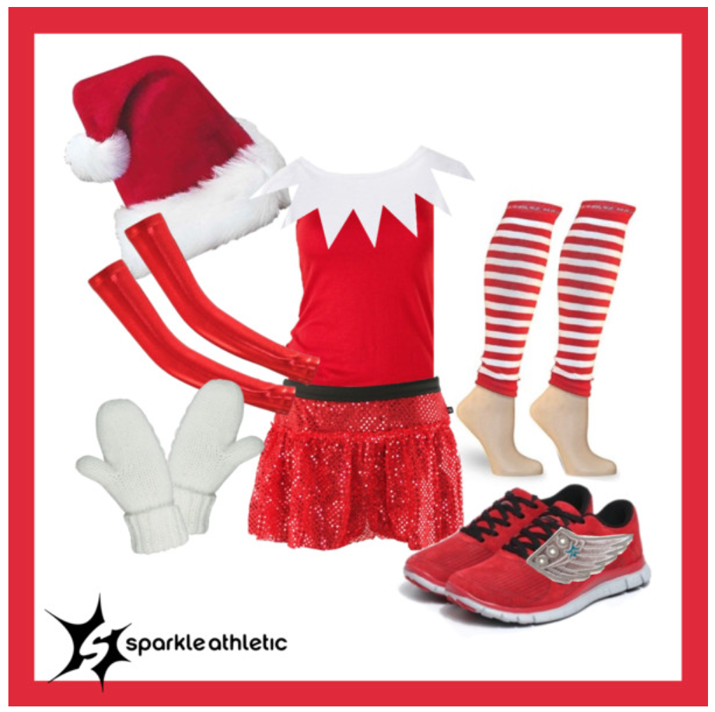 Elf on the Shelf Running Costume  sc 1 st  Sparkle Athletic : girls elf costumes  - Germanpascual.Com