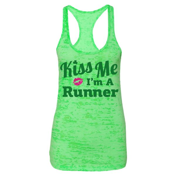 kiss me I'm a runner tank top