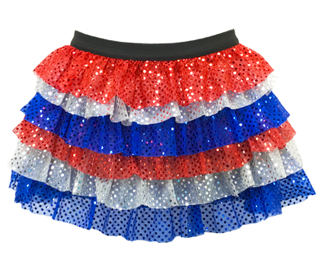 Sparkle Athletic Patriotic Ruffle Sparkle Running Skirt | Sparkle ...
