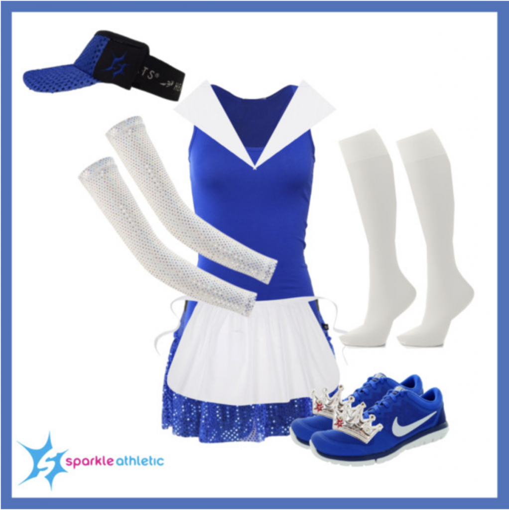 Provencial belle running costume for runDisney races