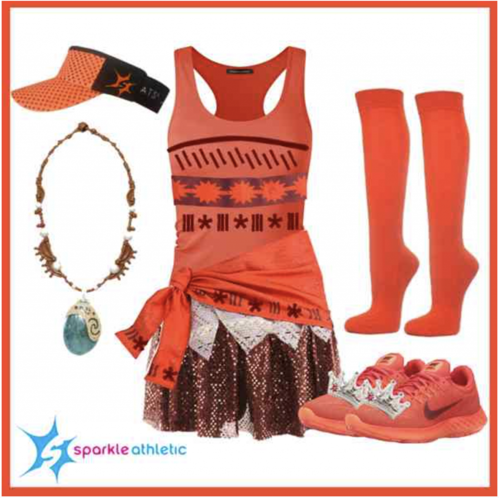 Princess Moana Running Costume for run Disney races