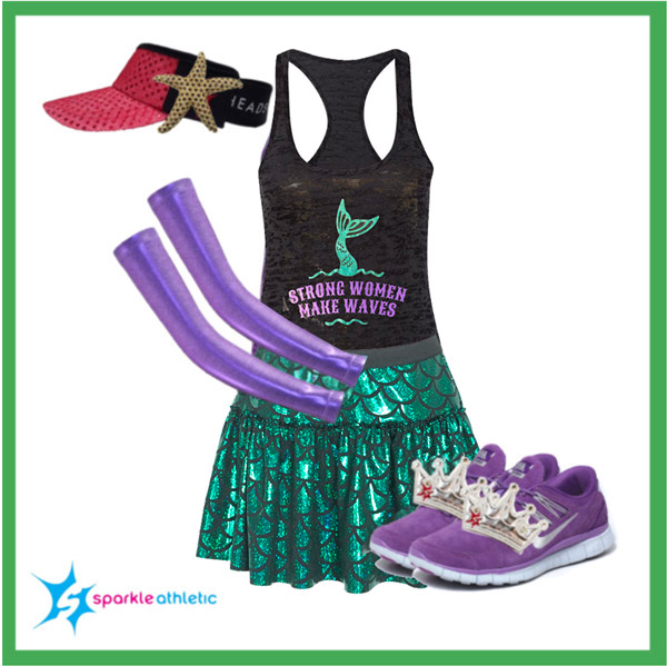 Ariel the little mermaid running costume for runDisney races