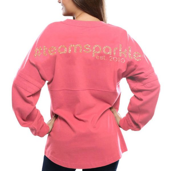 team-sparkle-rose-gold-spirit-jersey-model-back