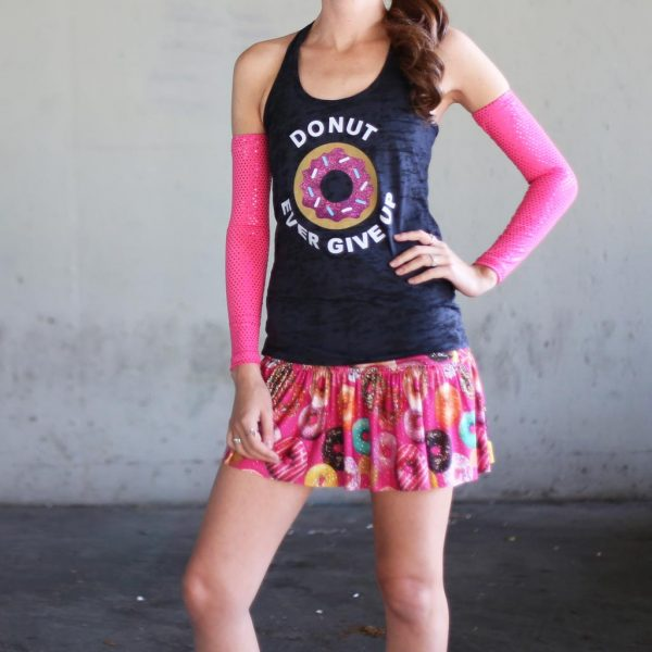 donut ever give up racerback tank top