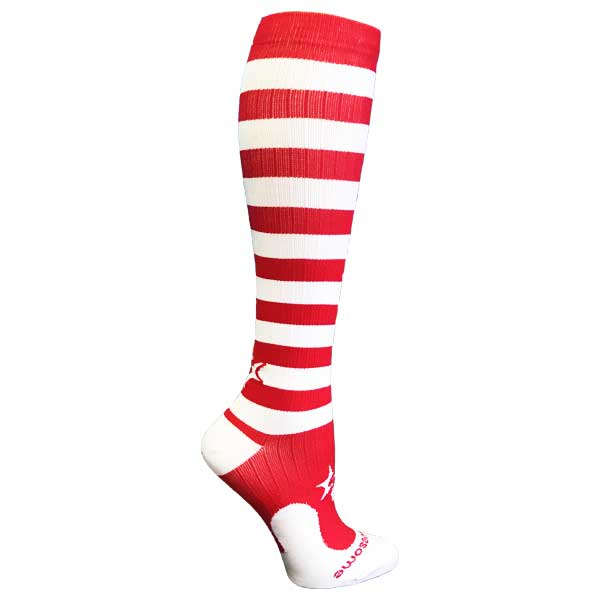 red-white-stripe-procompression-compression-socks