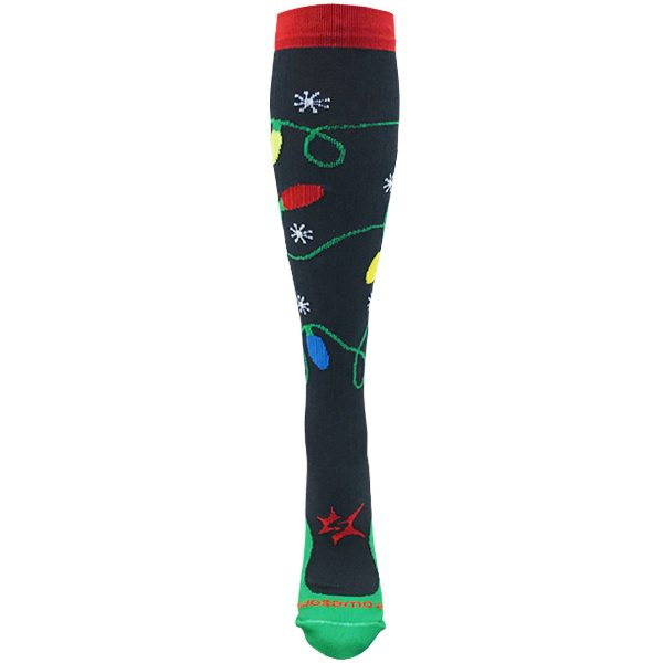 compression socks christmas front image