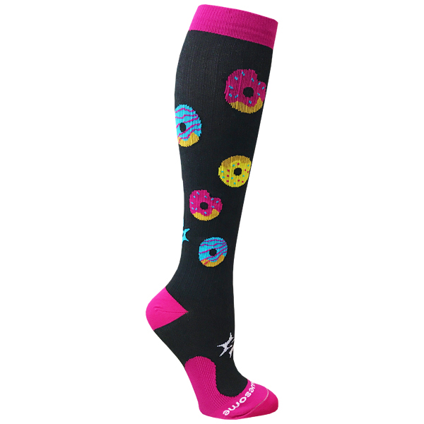 compression socks donuts side image