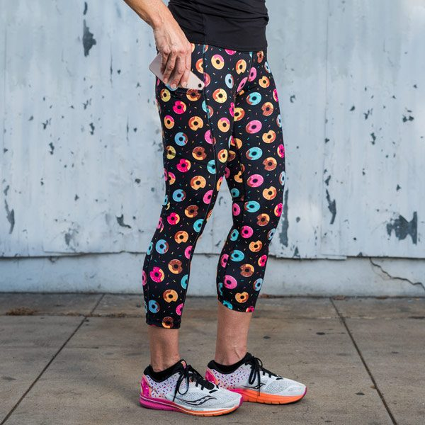 model wearing Donut Running Leggings with pockets