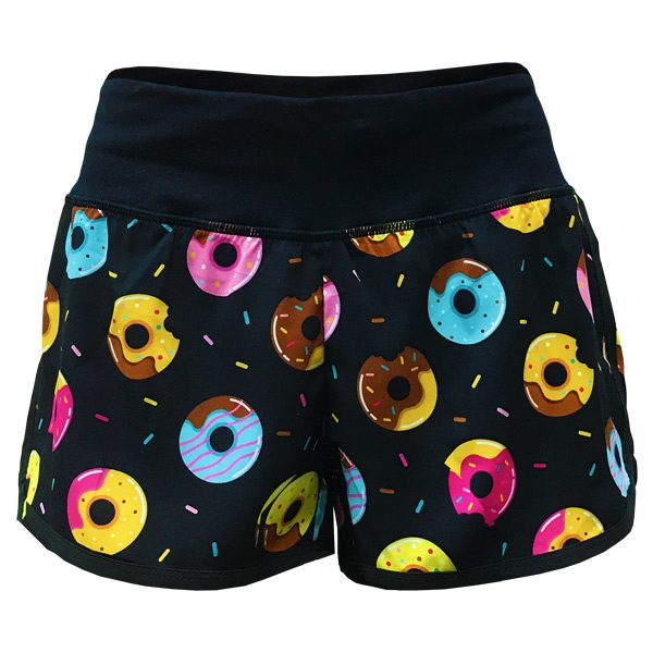 running shorts with pockets donuts front