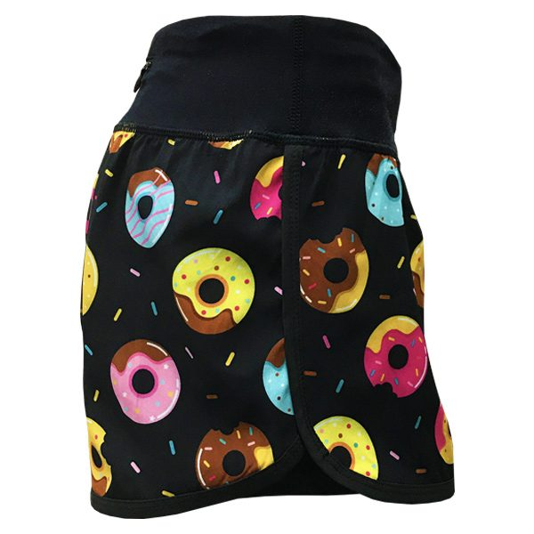 running shorts with pockets donuts side
