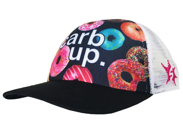 carb up donut trucker hat