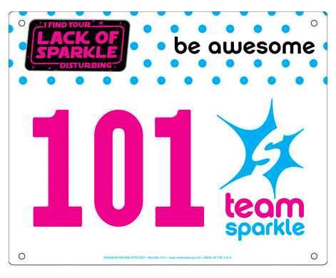 Star Wars #teamsparkle virtual run bib